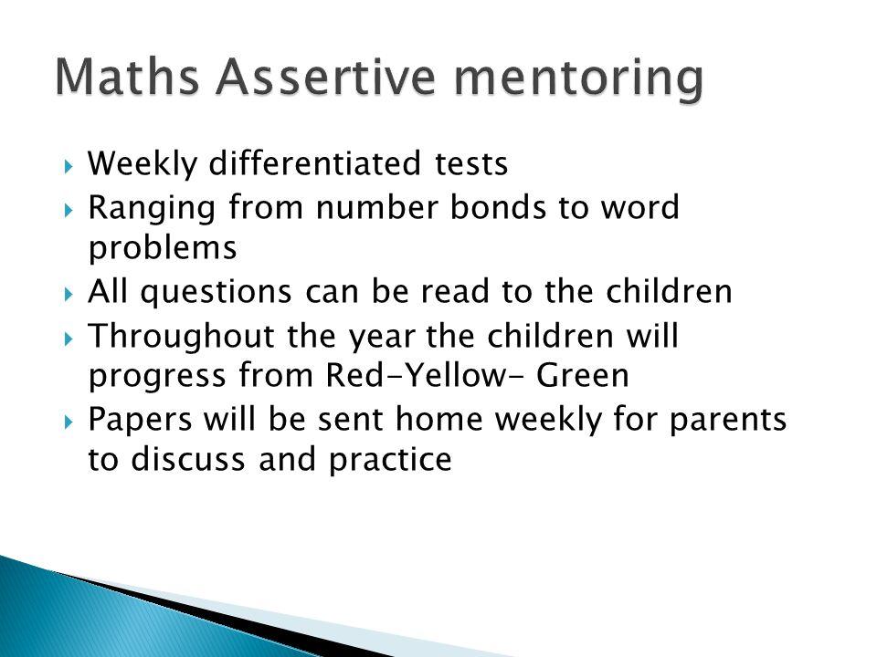 Maths Assertive mentoring