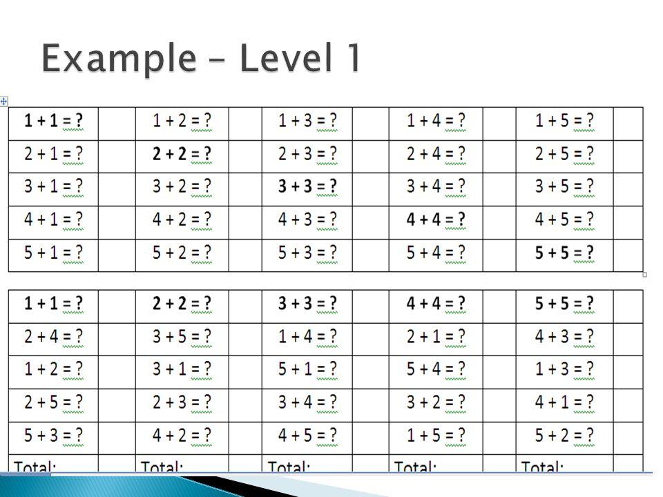 Example – Level 1