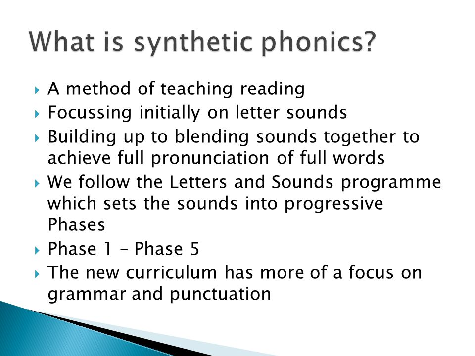 What is synthetic phonics