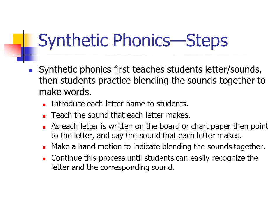 Synthetic Phonics—Steps