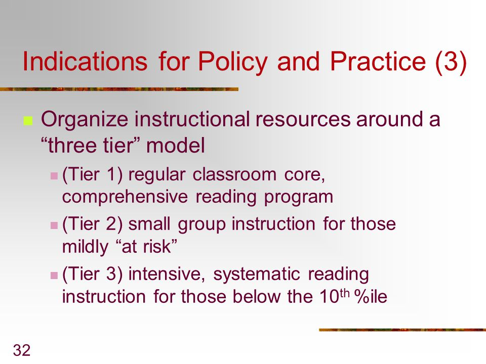 Indications for Policy and Practice (3)