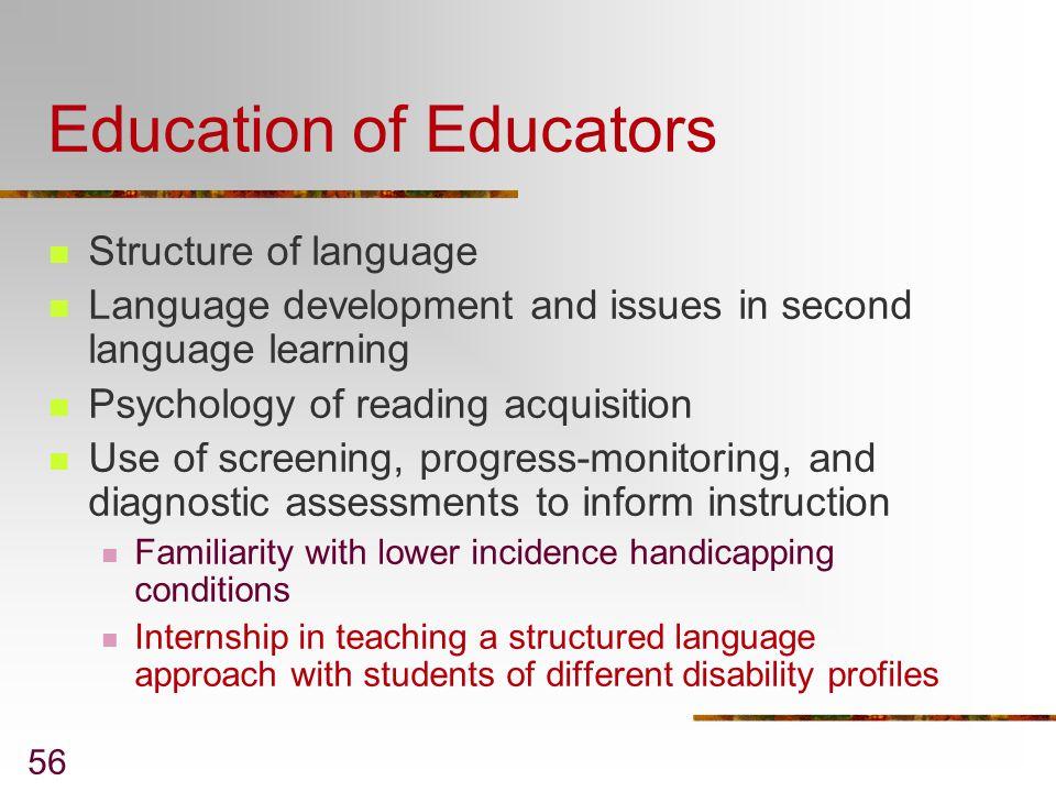 Education of Educators