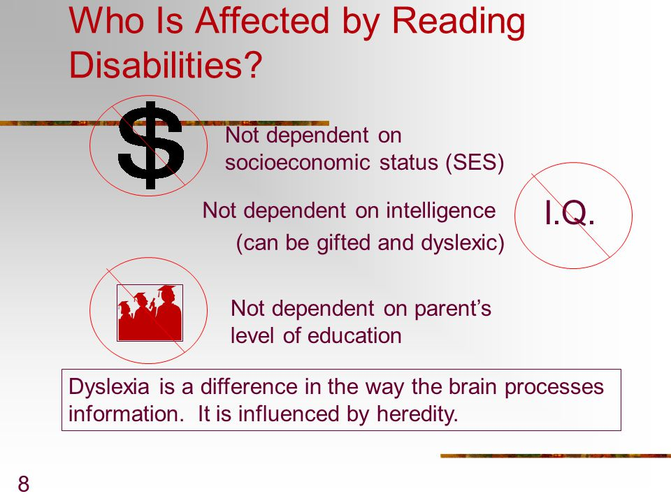 Who Is Affected by Reading Disabilities