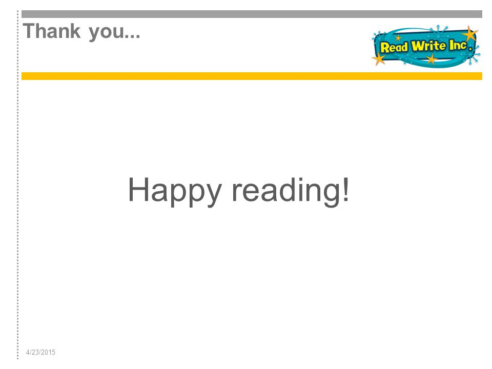 Thank you... Happy reading! 4/12/2017