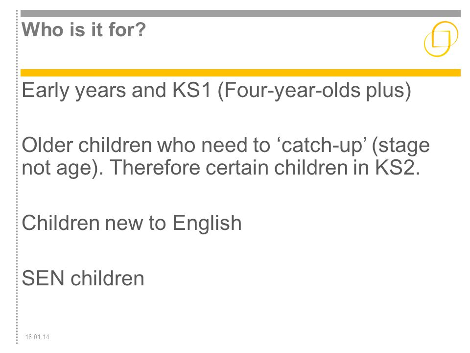 Early years and KS1 (Four-year-olds plus)
