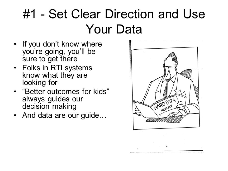 #1 - Set Clear Direction and Use Your Data