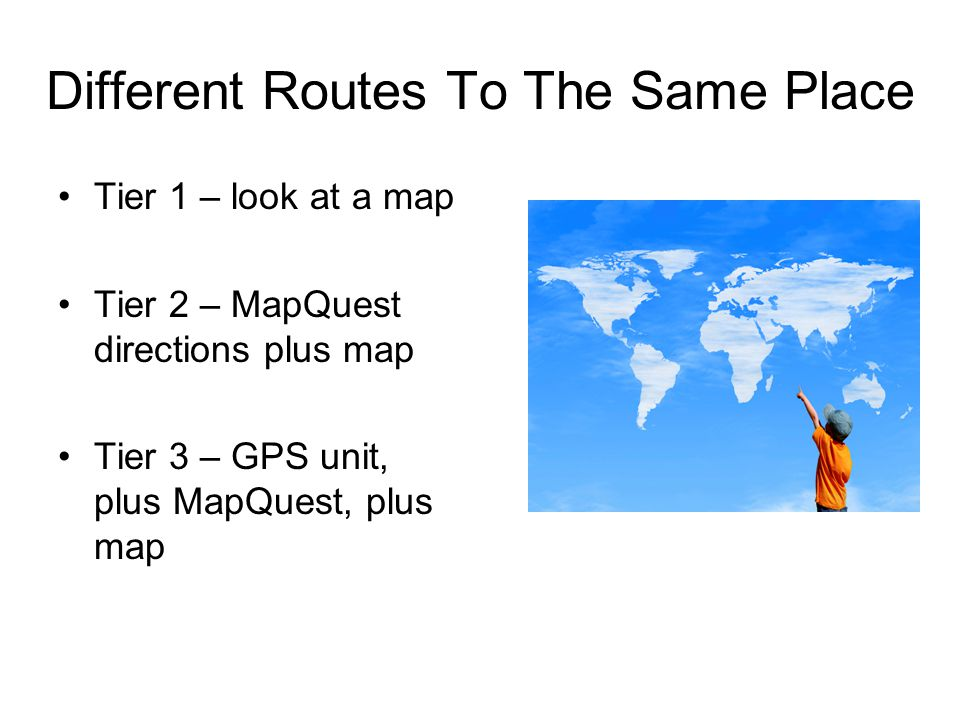 Different Routes To The Same Place