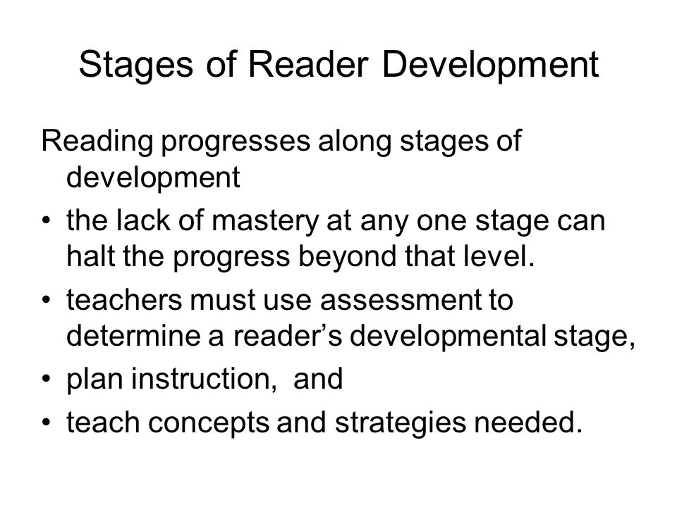 Stages of Reader Development