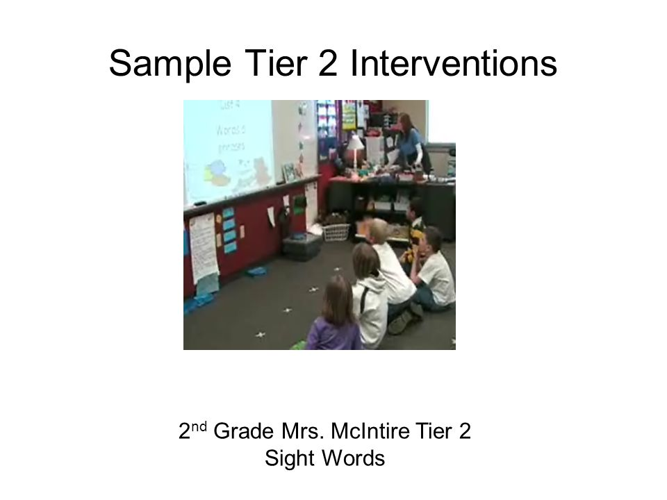 Sample Tier 2 Interventions