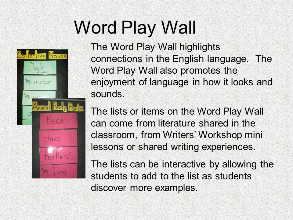 Word Play Wall