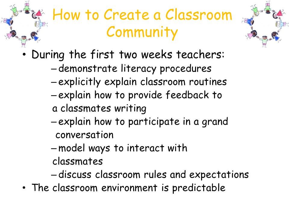 How to Create a Classroom Community
