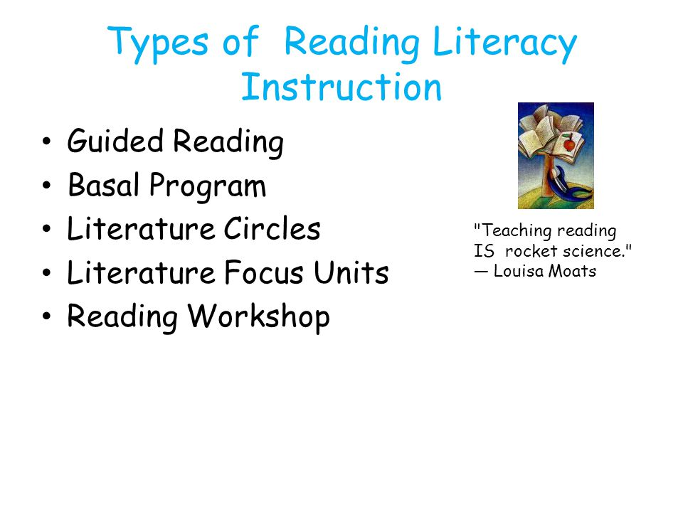 Types of Reading Literacy Instruction
