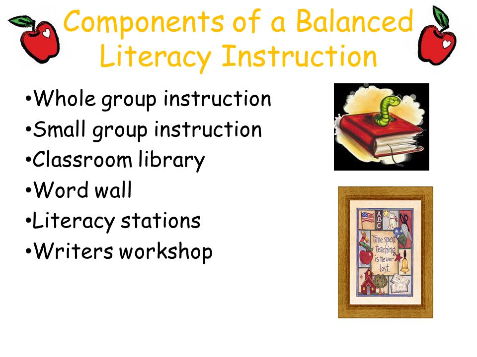 Components of a Balanced Literacy Instruction