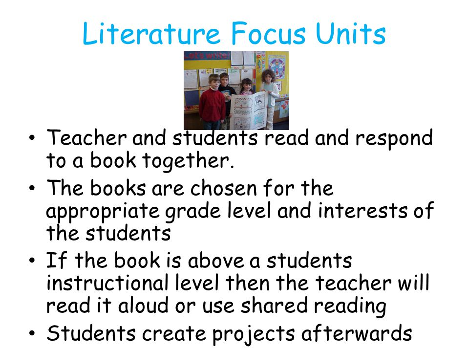 Literature Focus Units