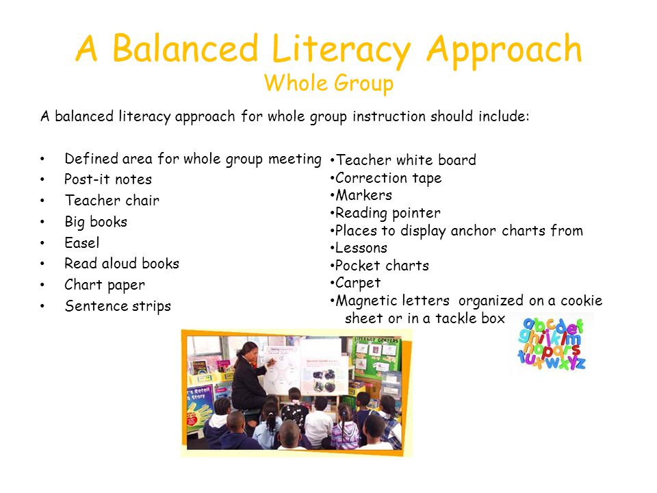 A Balanced Literacy Approach Whole Group