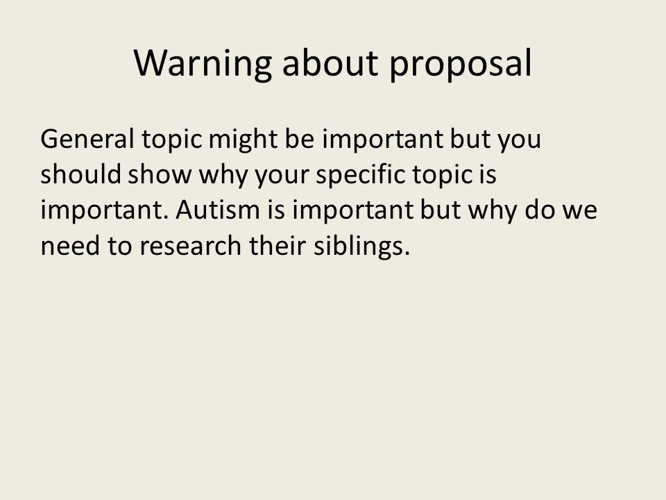 Warning about proposal
