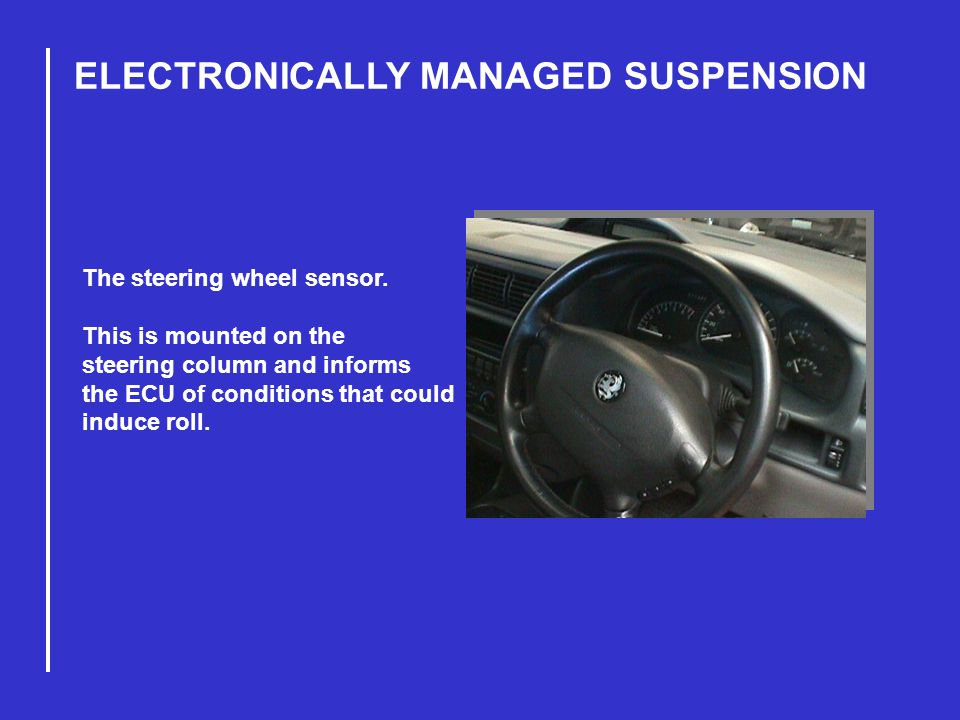 ELECTRONICALLY MANAGED SUSPENSION