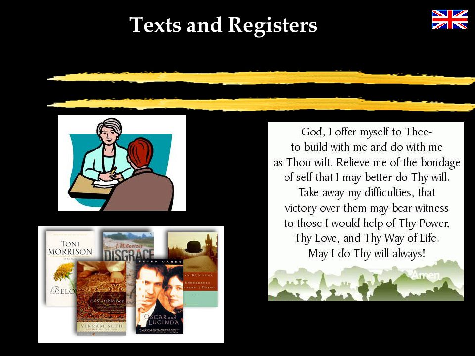 Texts and Registers