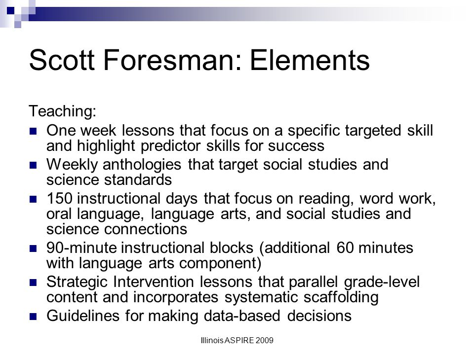 Scott Foresman: Elements