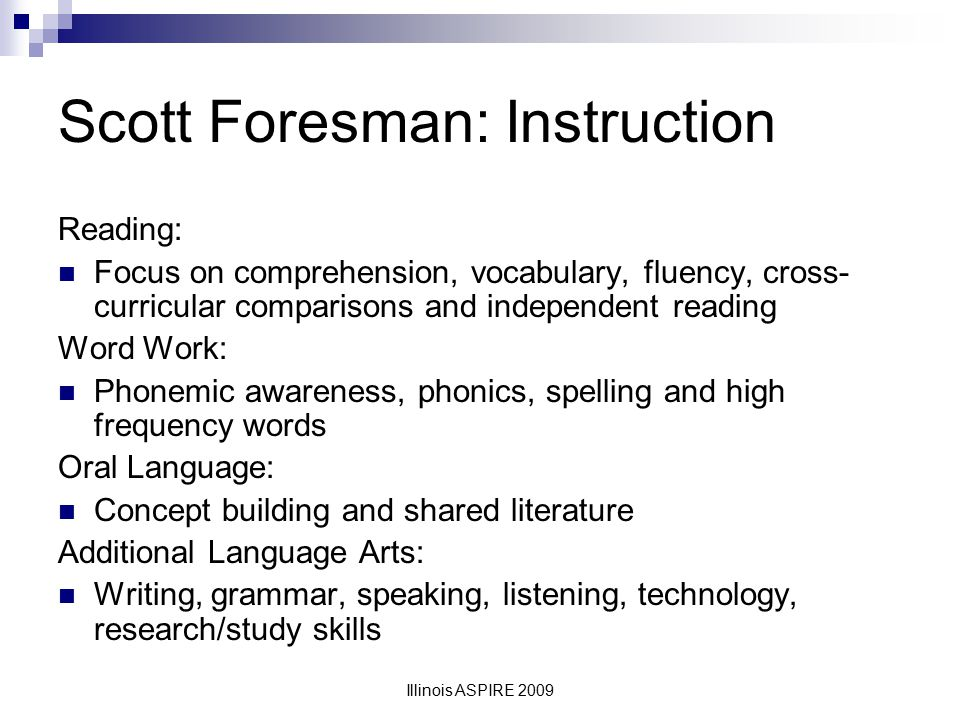 Scott Foresman: Instruction