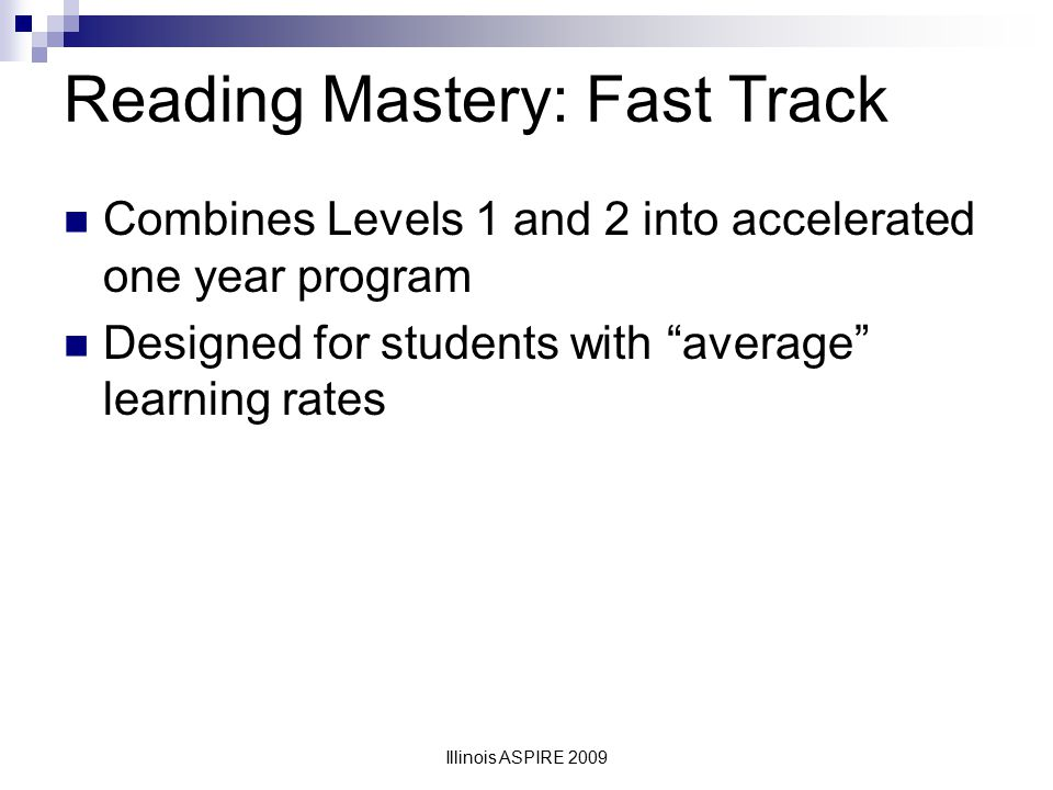 Reading Mastery: Fast Track