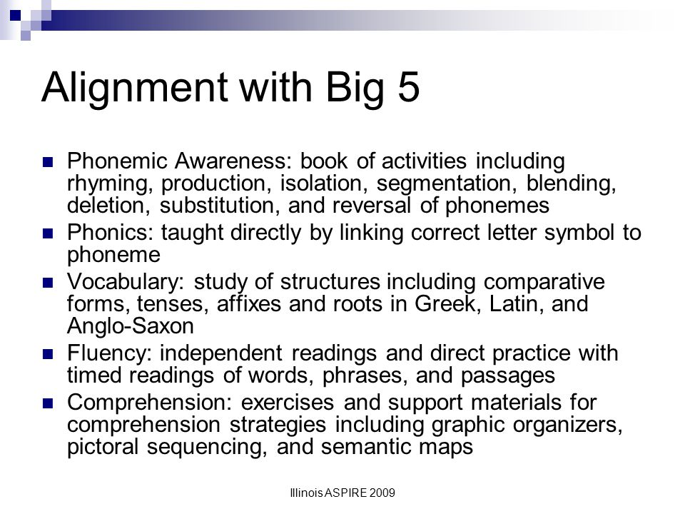 Alignment with Big 5