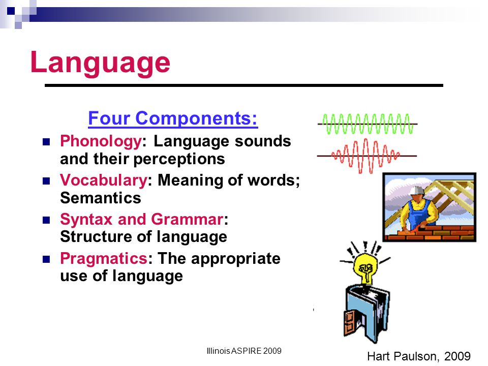 Language Four Components: