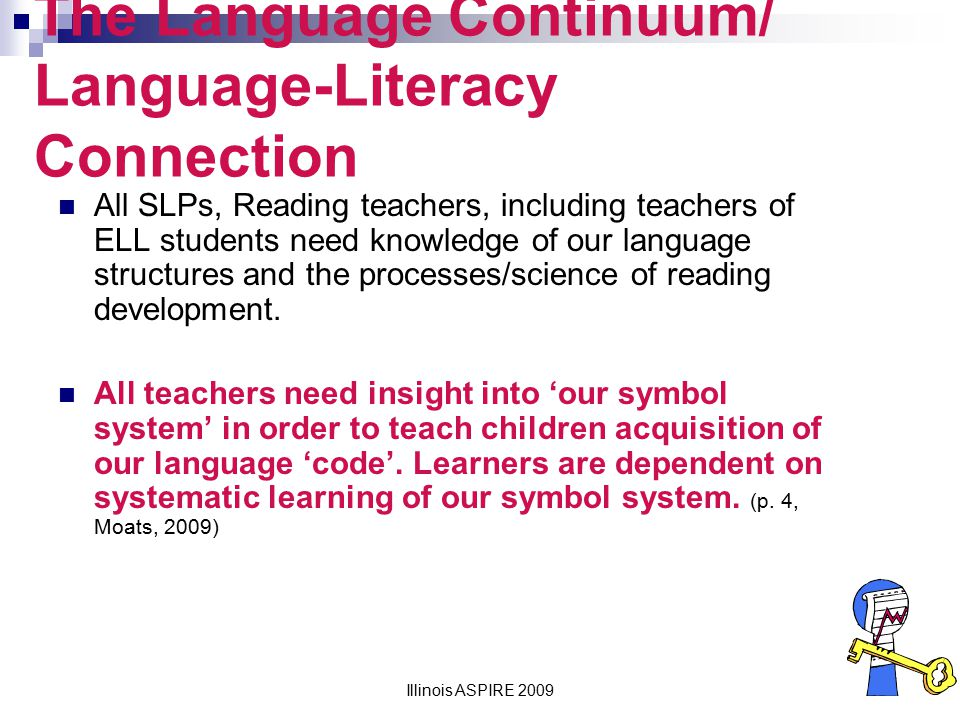 The Language Continuum/ Language-Literacy Connection