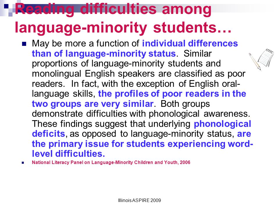Reading difficulties among language-minority students…