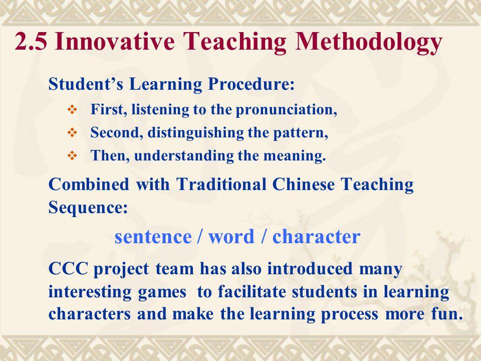 2.5 Innovative Teaching Methodology