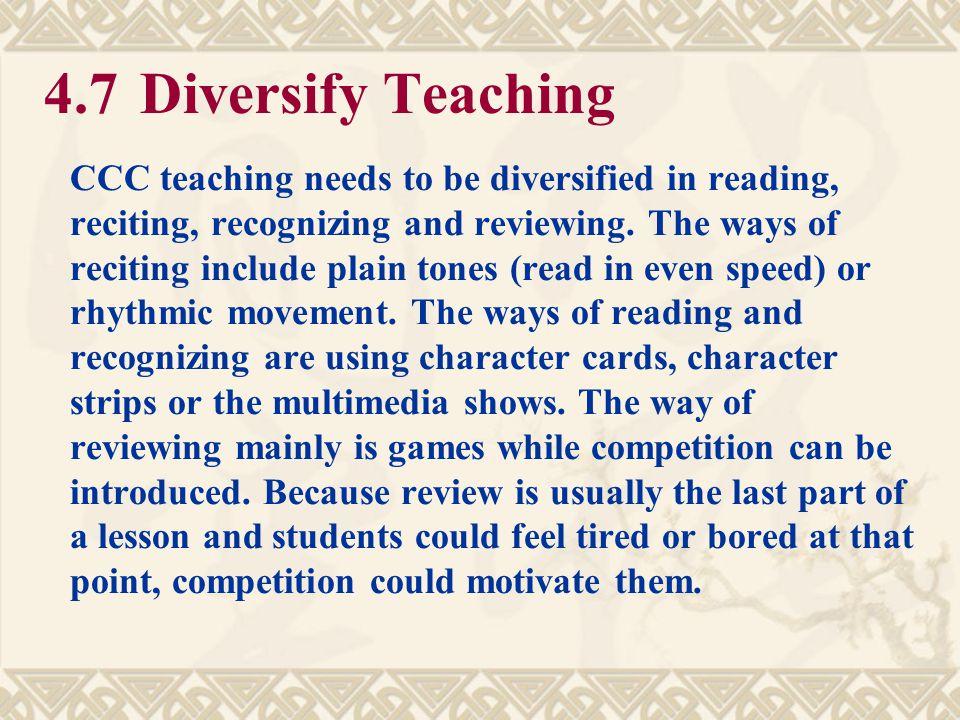 4.7 Diversify Teaching