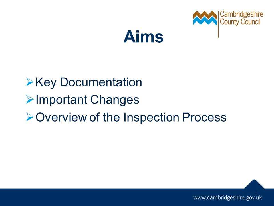 Aims Key Documentation Important Changes
