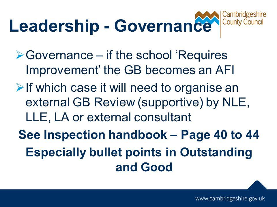 Leadership - Governance