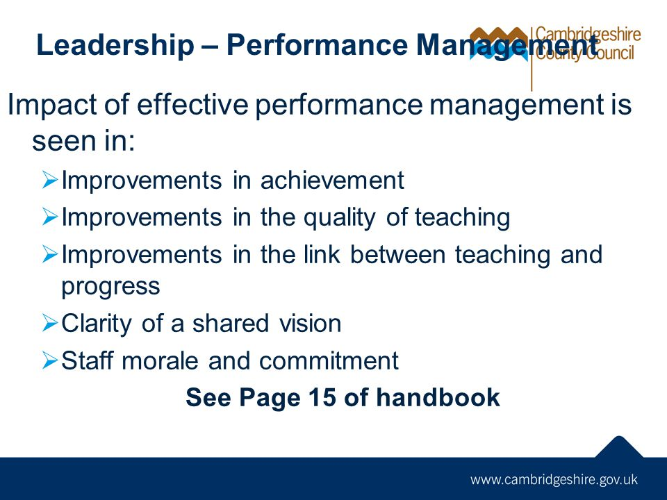 Leadership – Performance Management