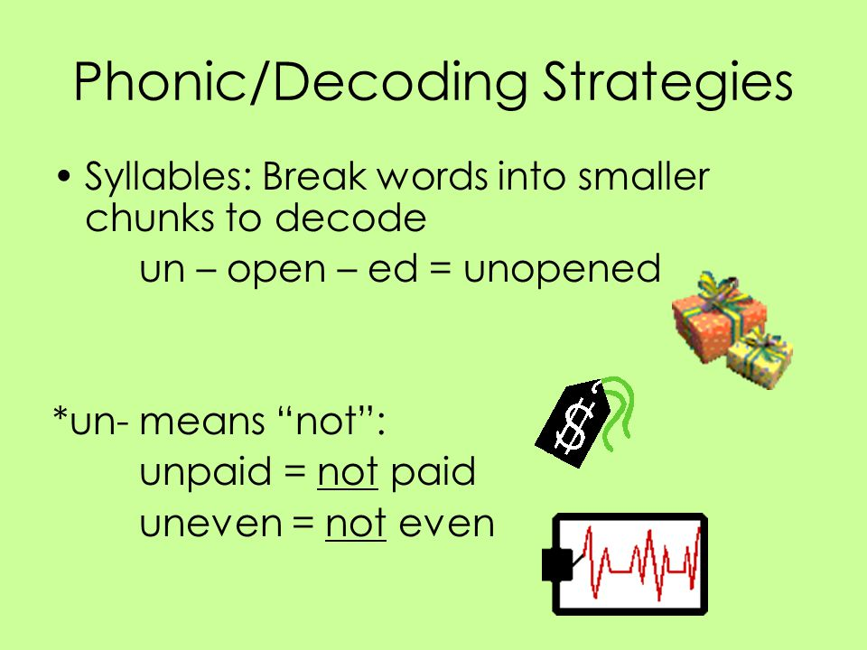 Phonic/Decoding Strategies