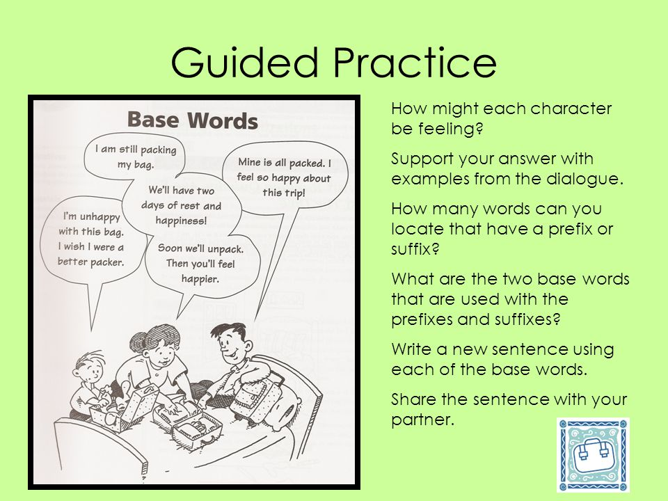 Guided Practice How might each character be feeling
