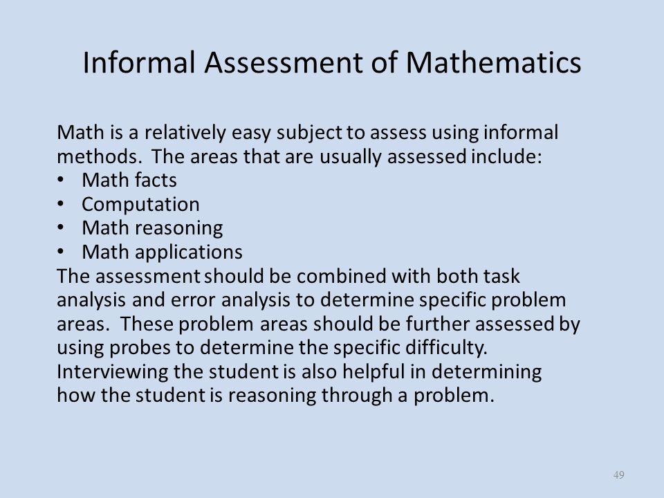 Informal Assessment. - Ppt Download