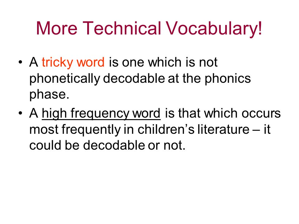 More Technical Vocabulary!
