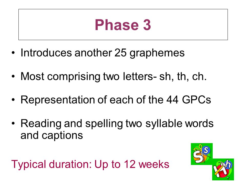 Phase 3 Introduces another 25 graphemes
