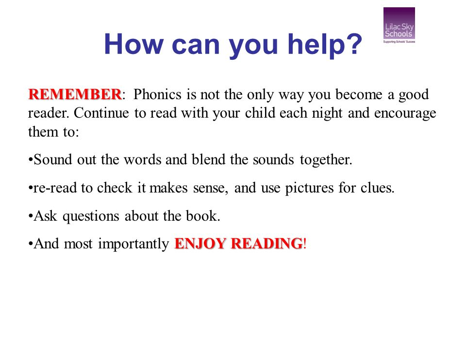 how to help your child with phonics