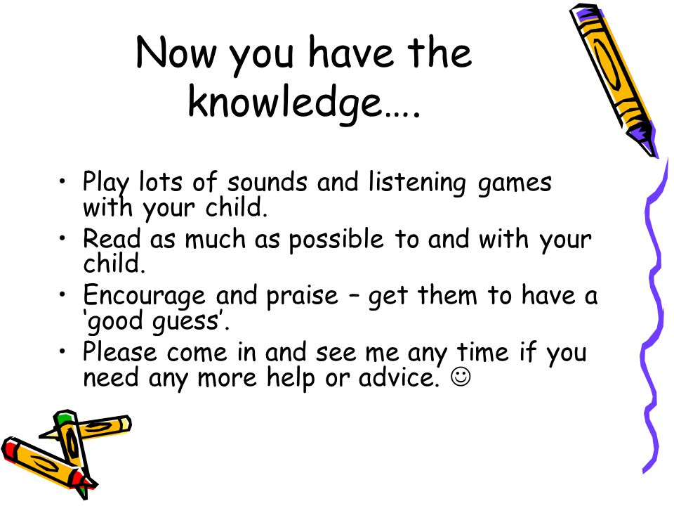 Now you have the knowledge….