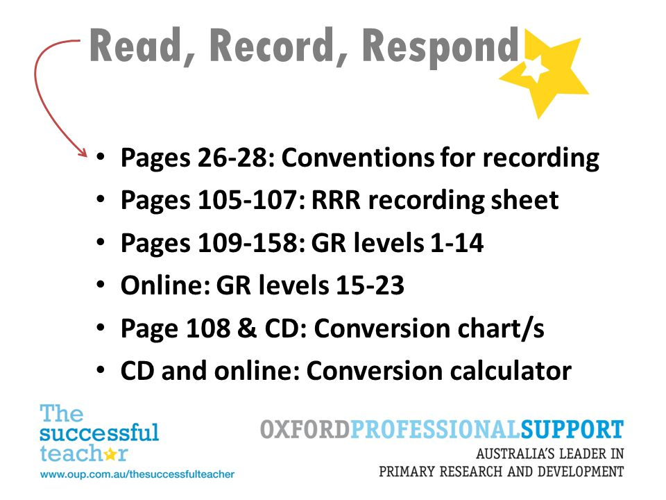 Read, Record, Respond Pages 26-28: Conventions for recording