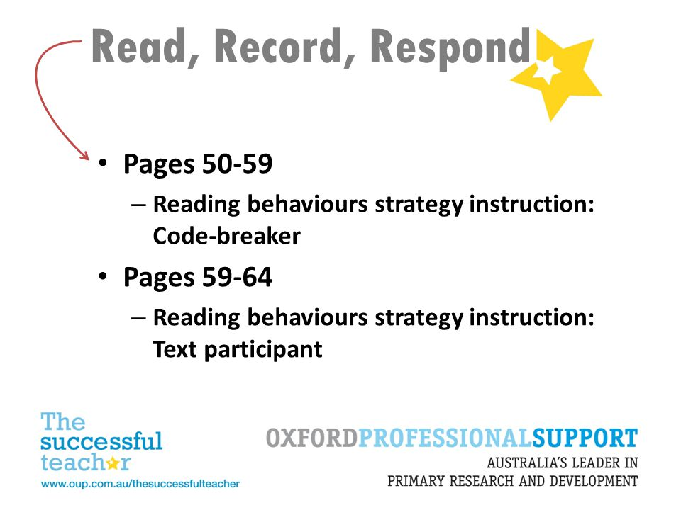 Read, Record, Respond Pages 50-59 Pages 59-64