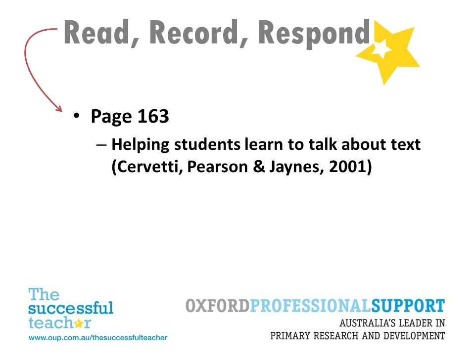 Read, Record, Respond Page 163