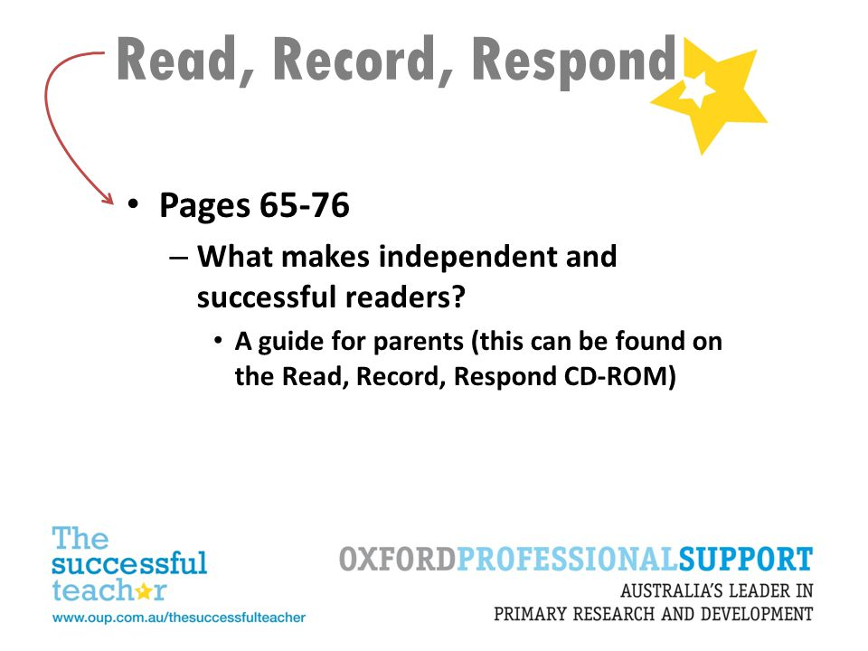 Read, Record, Respond Pages 65-76