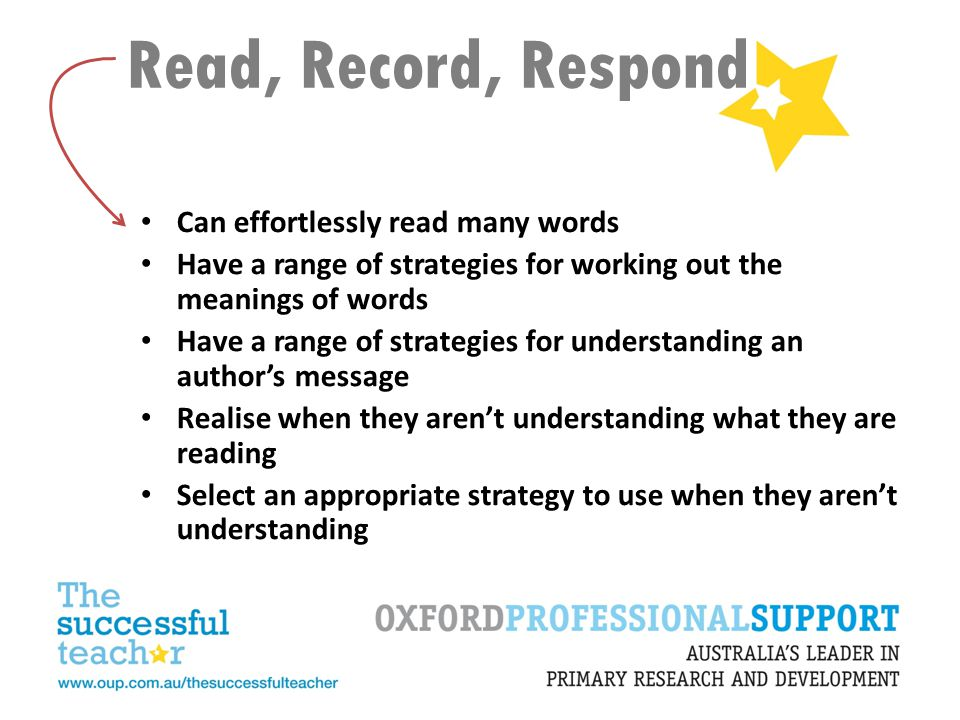 Read, Record, Respond Can effortlessly read many words