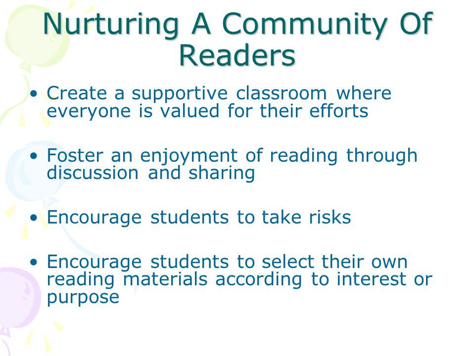 Nurturing A Community Of Readers