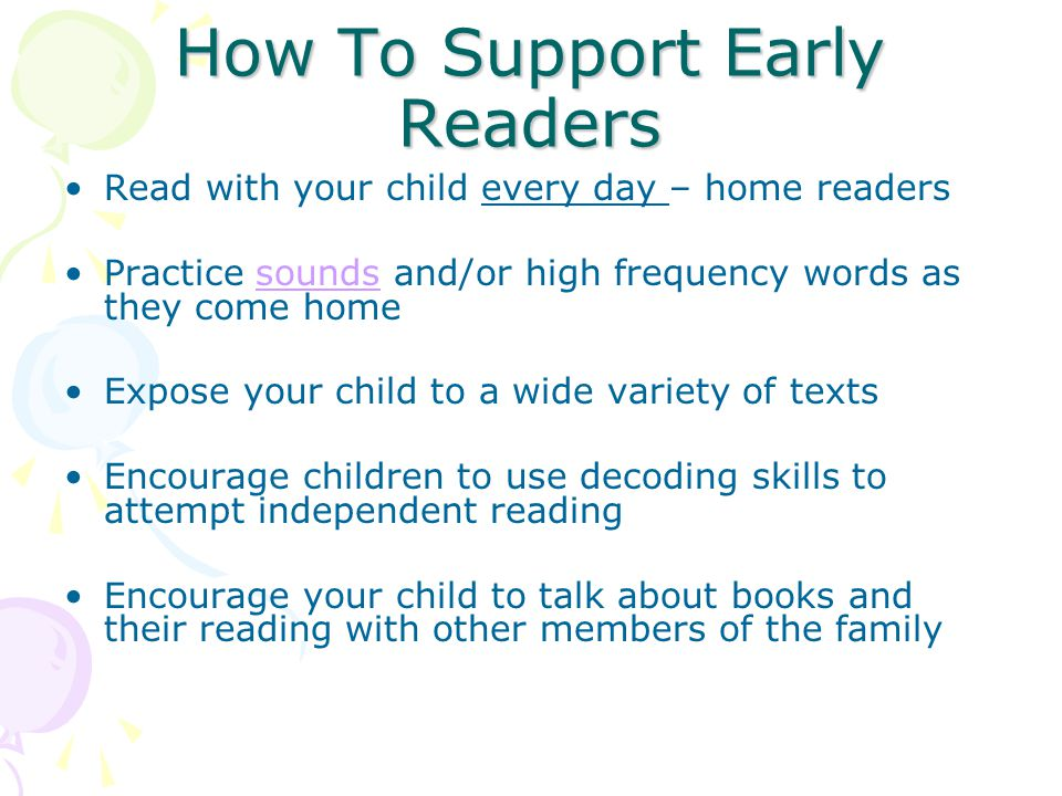 How To Support Early Readers