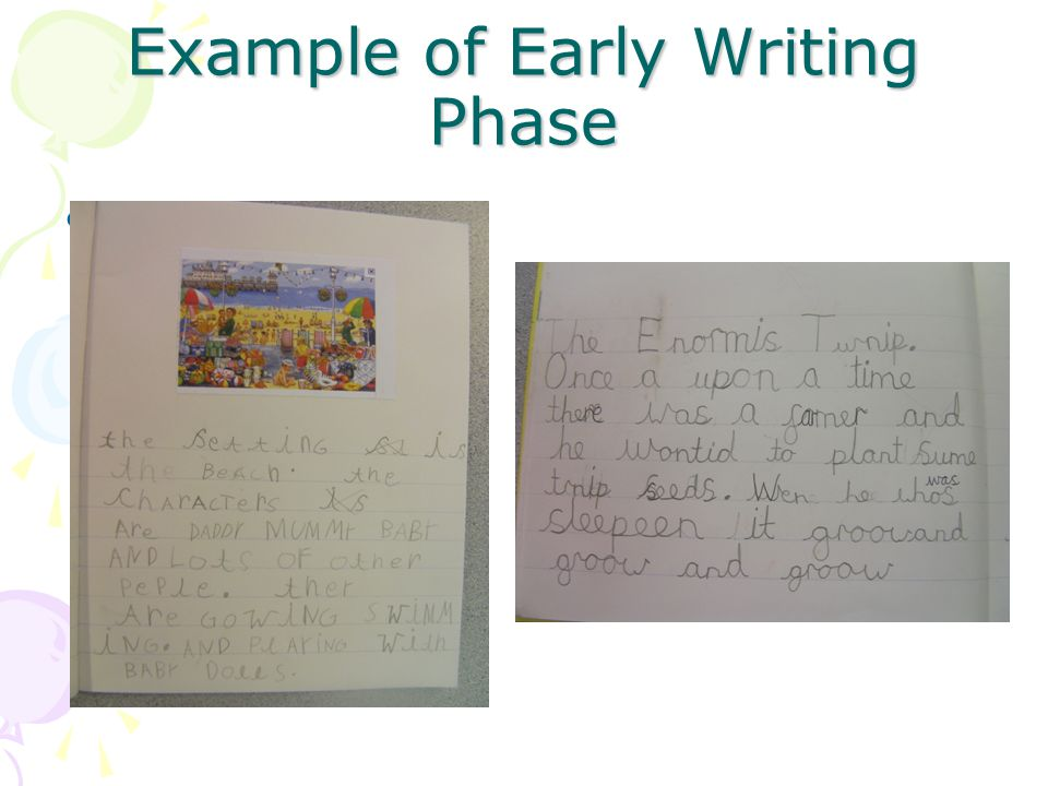 Example of Early Writing Phase