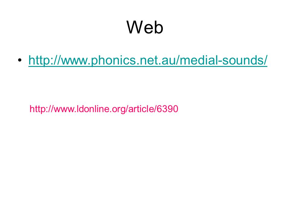 Web http://www.phonics.net.au/medial-sounds/